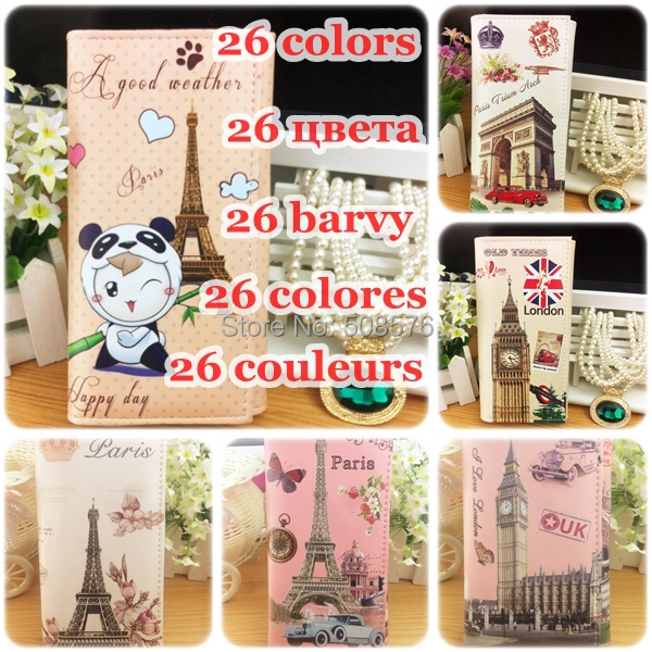 New 2014 vintage print women's wallets long design cartoon paper doll mate women fashion ID holders(China (Mainland))
