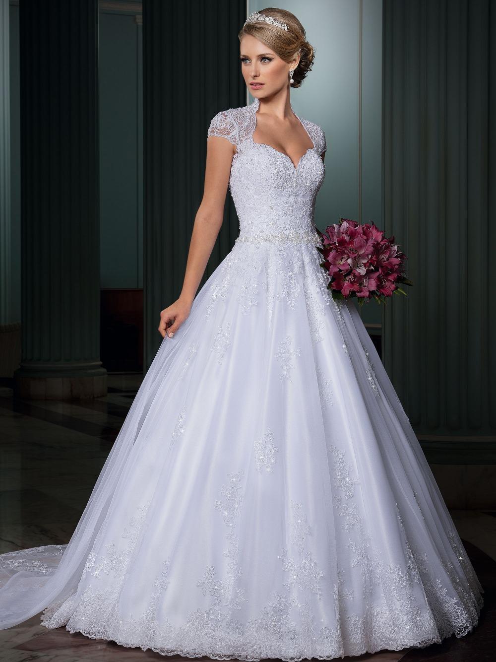 De Noivas 2015 uma ligne chérie dos ouvert robes De mariée robe De ...