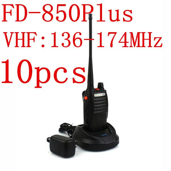 10pcs NEW 10W Walkie Talkie FD-850 Plus VHF 136-174MHz Professional 3500mAh FM Transceiver(China (Mainland))