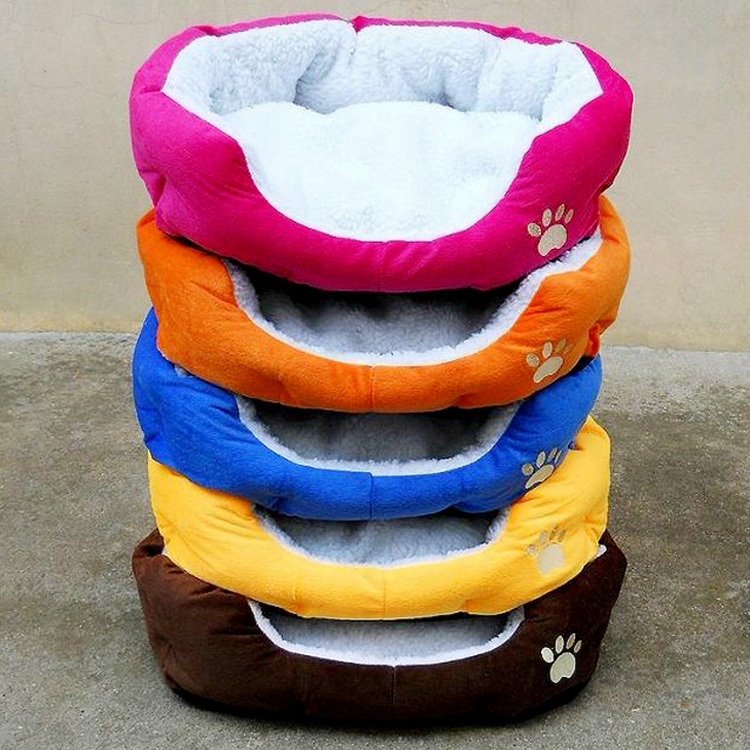 Fashion Hot Selling Autumn Winter Warm Cotton Pet Cat Dog Bed House Kennel Red/Orange/Blue/Brown/Yellow Fashion Pet Mats Supply(China (Mainland))