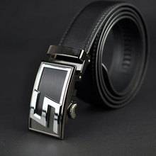 2015 new arrival Men fashion genuine leather belt cowhide cintos auto locked buckle leather strap 3 Extra large size(China (Mainland))