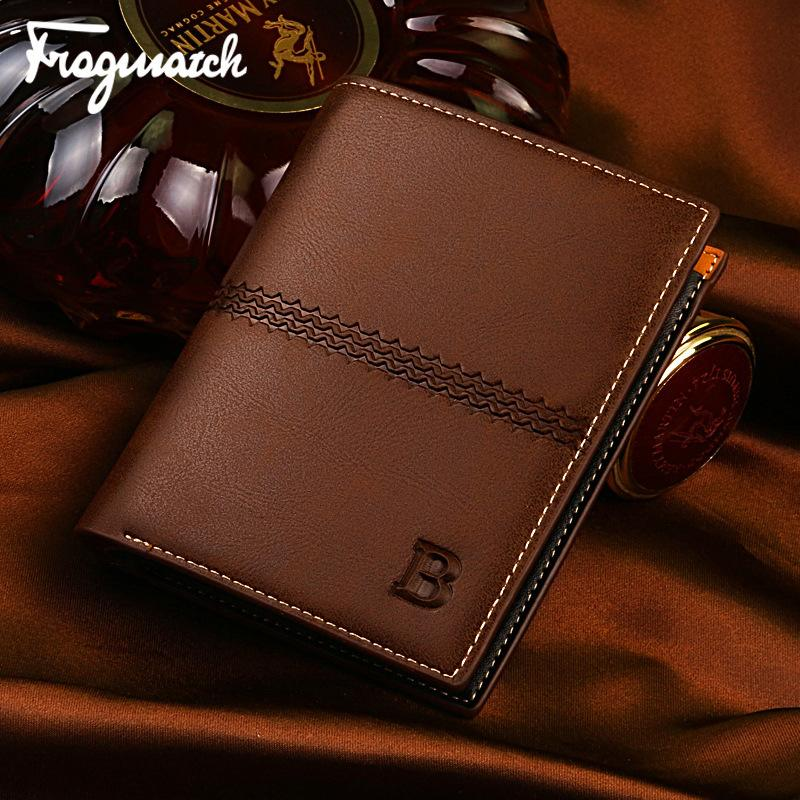 Гаджет  New Fashion Man Leather Brand Wallets Male Luxury Business Money Purse Card Bags Coin Holder None Камера и Сумки