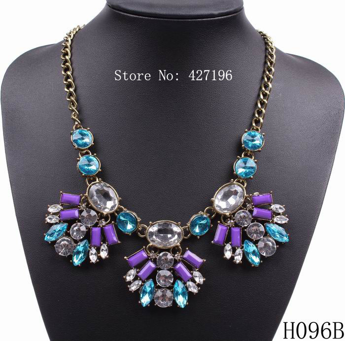 new fashion design gold plated chain crystal pendant necklace 2016 jewelry with colorful resin flower(China (Mainland))