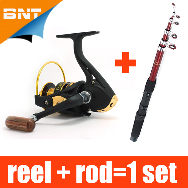 Fishing Rod AND12BB 1000 Reel / lot, Lure Fishing Reels spinning reel Fish Tackle Rods Carbon Ocean Rock (Lure As Free Gift )(China (Mainland))