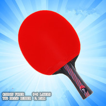 Hybrid Wood 9.8 Brand Quality Table tennis racket double face Pimples-in blue rubber Ping Pong Racket tenis de mesa(China (Mainland))