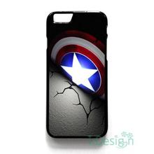 Fit for iPhone 4 4s 5 5s 5c se 6 6s 7 plus ipod touch 4/5/6 back skins cellphone case cover CAPTAIN AMERICA SHIELD LOGO