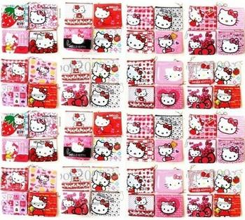 New Wholesale free shipping New 120 Pcs Cartoon Cute Hello Kitty Girls clip Coin Purses Wallets Bags 11x9cm