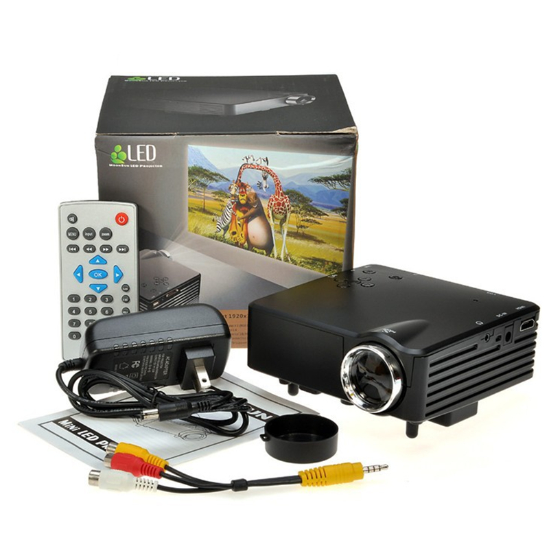 Home Theater  Cinema  support 1920*1080P Full HD HDMI USB Video Digital portable piCO LCD LED Mini cheap Projector