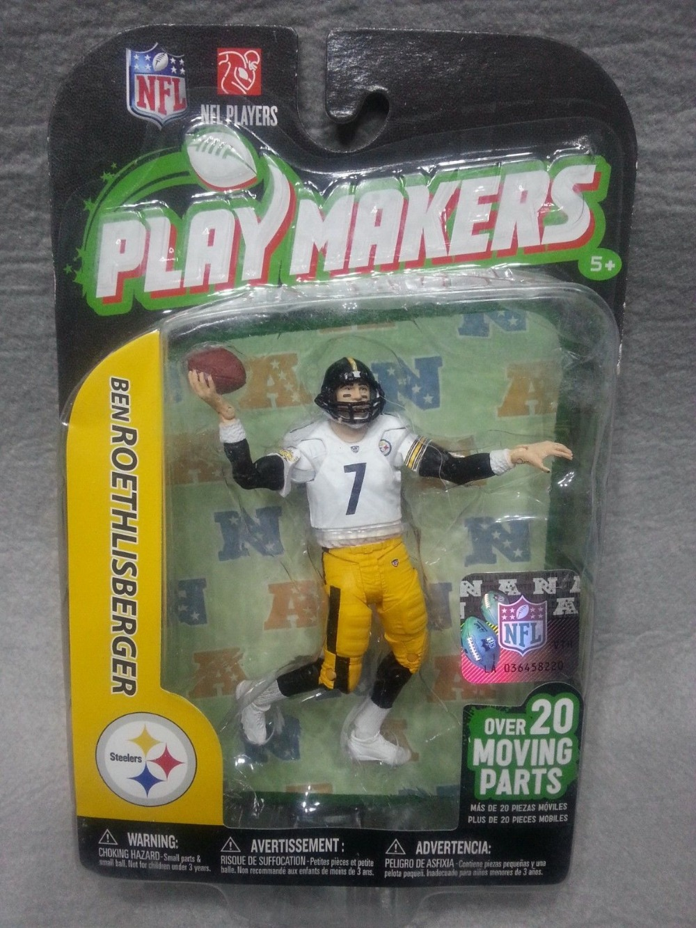 """NEW McFarlane NFL Playmakers Series 3 Ben Roethlisberger Action Figure 3.75"""" Pittsburgh Steelers(China (Mainland))"""
