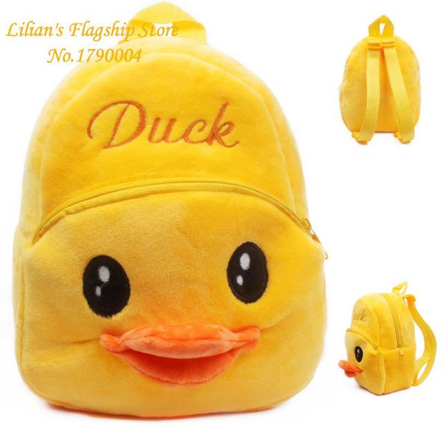 Новый Высокое качество желтый плюш мультфильм игрушки рюкзак детей характер мешок подарок для детей Mochila Infantil горячая распродажа