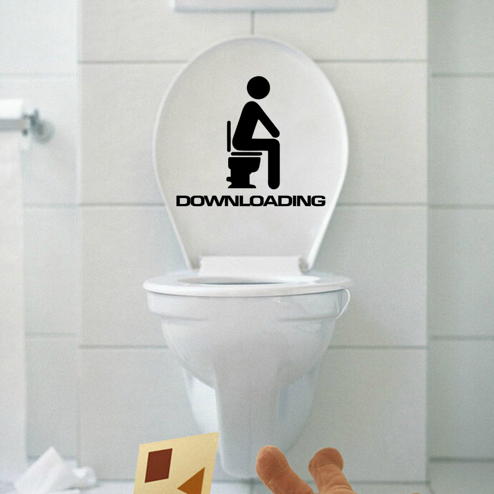 Bathroom wall decor stickers - 305 Cartoon Toilet Sticker Downloading For Kids Decor Toliet Decals Free Shipping China Mainland