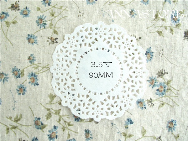 Free Shipping Wholesale 500pcs/lot 9cm Multipurpose White Lace Paper, Paper Pad, Box And Gift Decorated