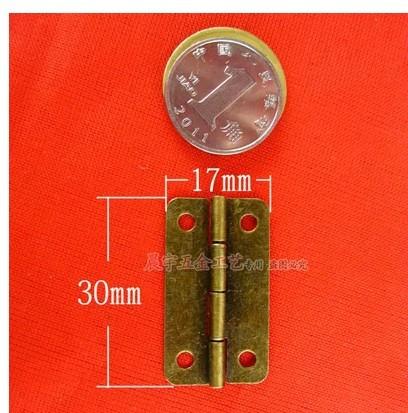 30*17mm bronze small wooden gift jewelry box hinges(China (Mainland))