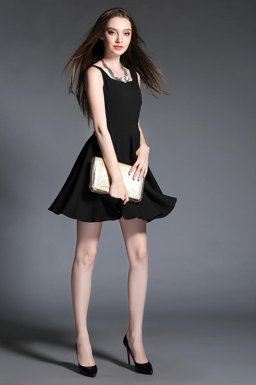 2015 Autumn style women dress vestidos vestido de festa braces Slim black party dresses summer high range Base female dress(China (Mainland))