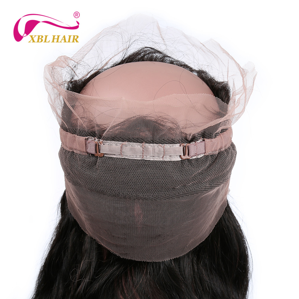XBL HAIR 360 Lace Frontal Body Wave 100% Human Hair Natural Hairline With Baby Hair Remy Free Shipping