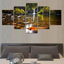 (No Frame)5 Pcs Landscape Painting Modern Home Decor Canvas Art Modular Pictures Painting On The Wall Print Canvas Wall Art(China (Mainland))