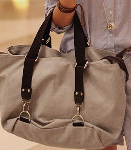 Outstanding Canvas Handbags, Large size double layers women canvas bags, 2014 new Fashion bags, zipper closed
