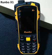 100% original 2.0'' Runbo X1 IP67 Waterproof Rugged Phone Single SIM GSM Mobile Phone UHF/VHF Walkie Talkie Russian Keyboard H1(China (Mainland))