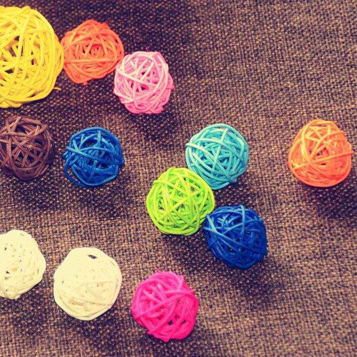 5pcs/Lot 3cm Holiday Event & Party Supplies Rattan Ball Wedding Decoration Ornament Craft Ball Dried Artificial Flowers Decora(China (Mainland))