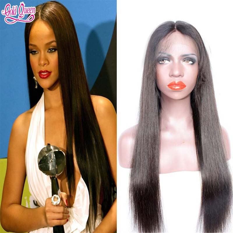 celebrity stars hairpiece and wigs for women virgin brazilian human hair full lace wigs 26inch natural black front lace hair wig