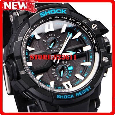 US version Original Gw-1000 Men Luxury Brand Sports dieseler Digital watch 46MM Rubber Case Resin strap 200M Waterproof GS Watch(China (Mainland))