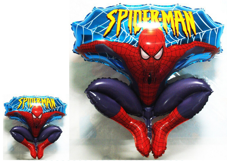 Free Shipping Large size Hydrogen Jump Type Spiderman Helium Foil Balloons For Kids Birthday Party Wedding Decoration toys<br><br>Aliexpress