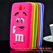 For Huawei g730 Case M&M'S Chocolate Candy Silicone Rubber Cases Covers Phone Case