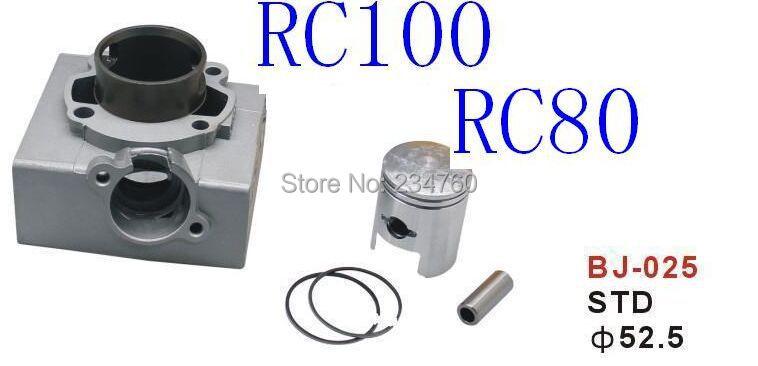 Motorcycle Aluminum Cylinder Block BODY SUZUKIRC100 RC80 11210-23402 CYLINDER set PISTON STD Gas Racing order write size(China (Mainland))