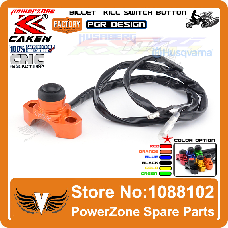 Billet CNC Unversal Engineering Kill Switch Button Fit KTM EXC SX SXF CRF IRBIS Motorcycle Dirt Pit BIke ATV Quad Free Shipping(China (Mainland))