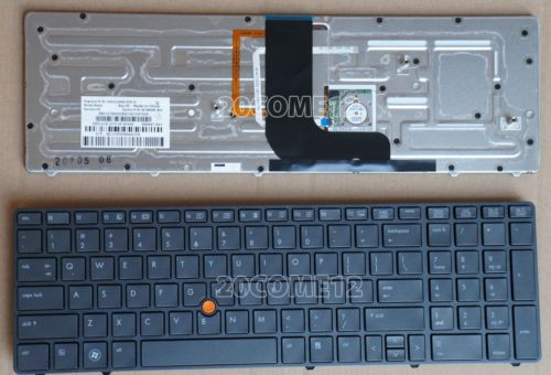 NEW For HP EliteBook 8570w Laptop Keyboard Teclado US English backlit Pointer 690647-001