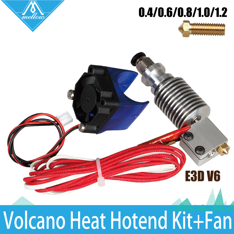 3D Printer E3D volcano kit- J-head Hotend with Single Cooling Fan for 1.75mm Universal Extruder 0.4mm/0.6mm/0.8/1.0/1.2mm Nozzle(China (Mainland))
