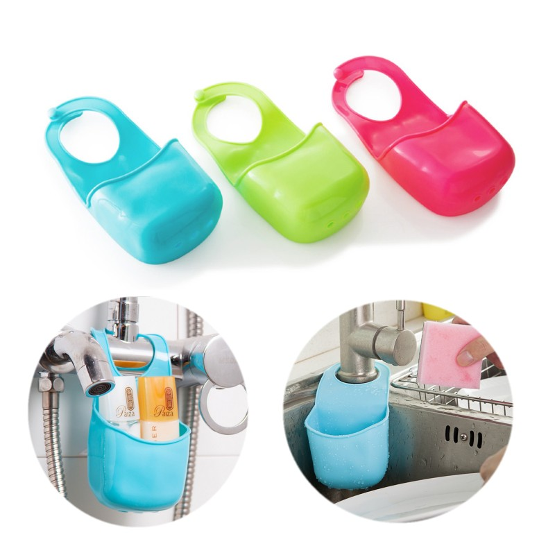 Creative Home Kitchen Gadgets Bathroom Soap Toothbrush Razor Storage Box Be Hanging Plastic Storage Box Holder Sink Organizer(China (Mainland))