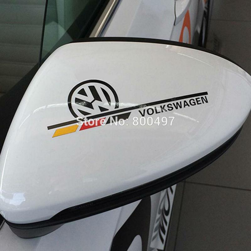 2 x Car Decoration Stickers Car Decals for Volkswagen VW Golf Polo Sagitar Jetta Tiguan GTI(China (Mainland))
