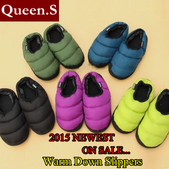 Гаджет  Free shipping Wholesale 2014 New Winter Down Home Slippers Fashion Candy Color Cotton-Padded Home Shoes For Men&Women None Обувь