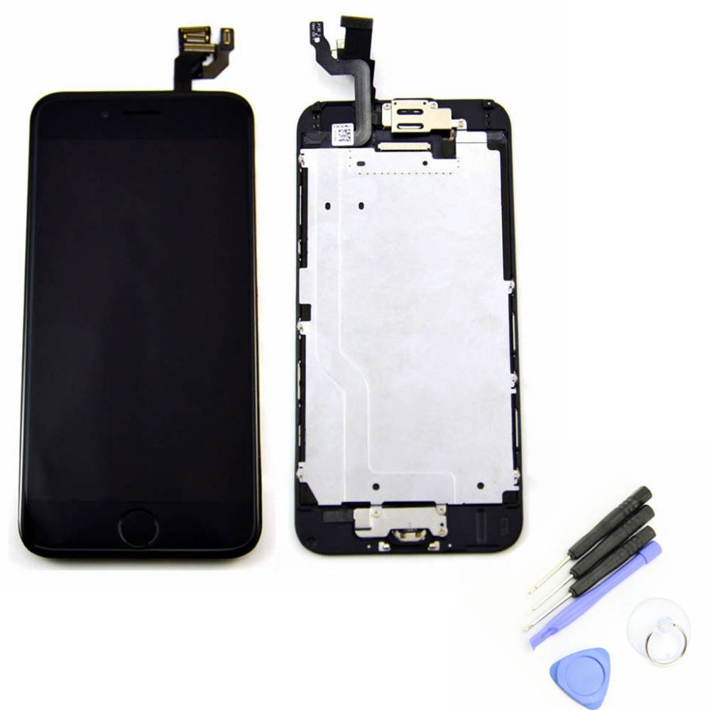 4.7'' inch For Apple iphone 6 LCD Display Touch Screen With Digitizer Assembly + Home button Front camera + Tools Free Shipping(China (Mainland))