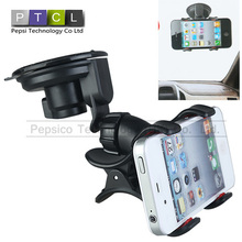 360 Degree Rotation Universal Suction Cup Car Holder monopod Desktop Stand For Smart phone Size Range less 9 Inch Drop Shipping(China (Mainland))