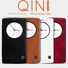 NILLKIN Original Qin Series High Quality Flip Ultra Thin Luxury Leather Wallet Case For LG G4S G4 Beat H731 H735 H736 (5.2 inch)(China (Mainland))