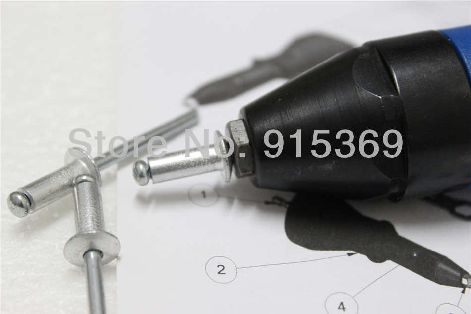 electric rivet tool Pop rivet CORDLESS DRILL Adaptor RIVET ADAPTOR crodless rivet adatpor drill adapter 3
