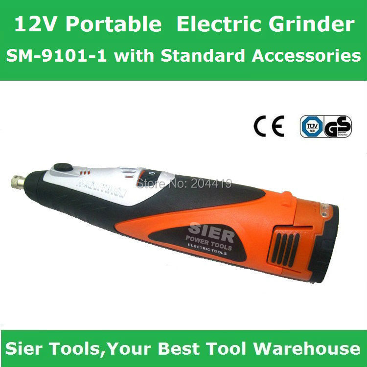 SM-9186-1 12V Portable Electric Grinder/cordless rotary tool Standard Accessories - Sier Tools Industrial Co.,Limited store