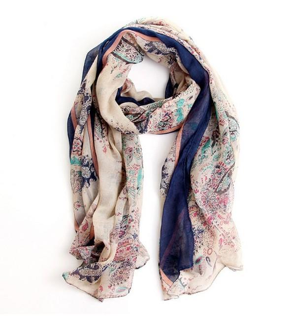 2016 Sunsreen шарф джокер поля и сады цветочный шарф большой шарф женщин зима теплая шарфы пашмины платок
