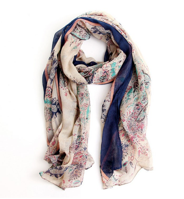 2015 Sunsreen scarf joker fields and gardens floral scarf large scarf women winter warm scarves pashmina shawl