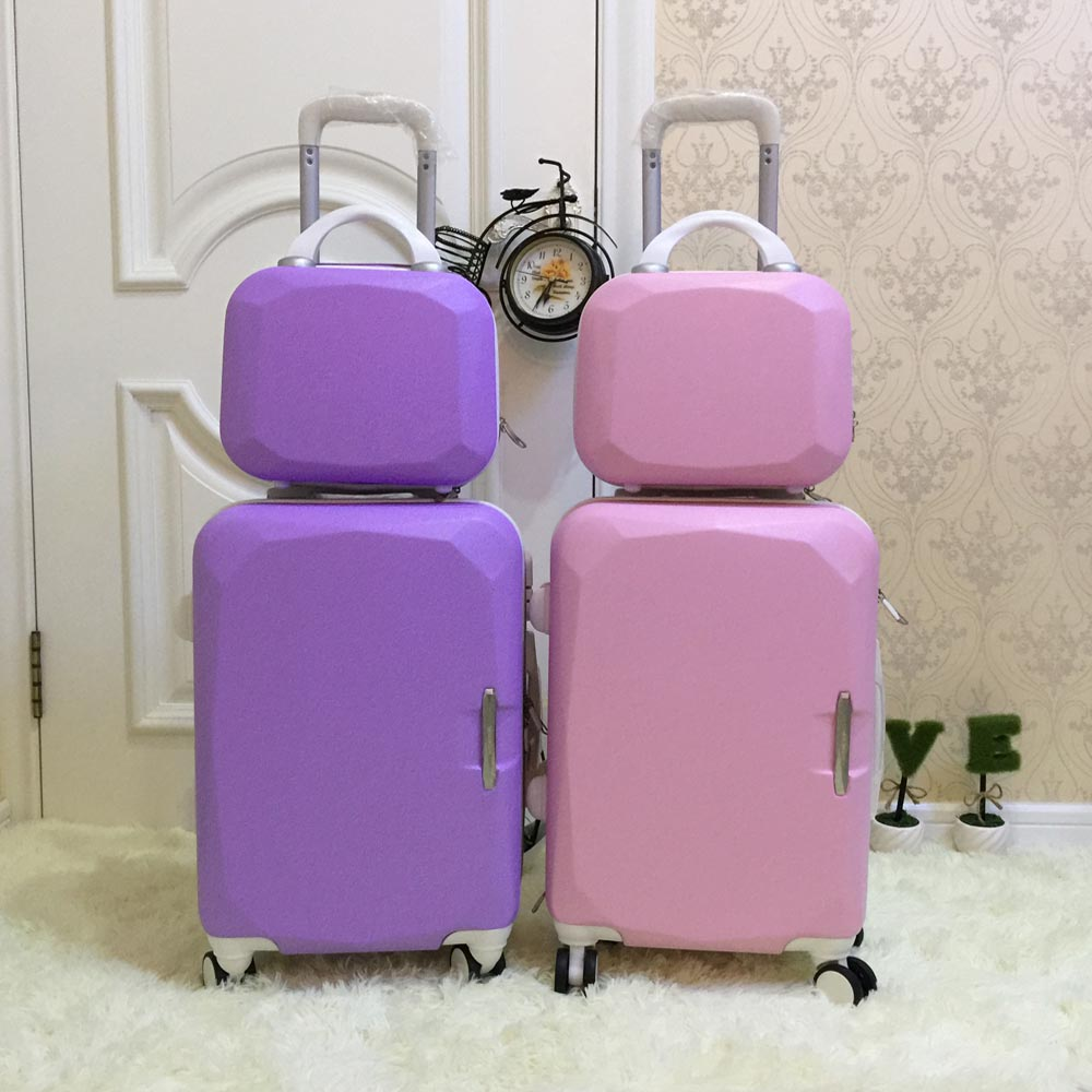 Picture box universal wheels trolley luggage 14 20 child travel bag sub-trunk sets,children set
