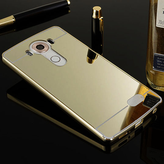 For LG V10 F600 Luxury Plated Acrylic + Aluminun Metal Case for LG V10 F600 cover protective Phone Bag(China (Mainland))