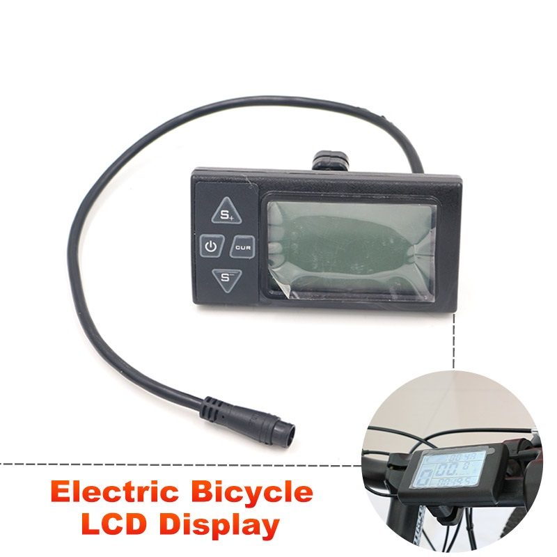 JS Electric Bicycle LCD Display Manual Control Panel for E-Bike 36V 250W 350W Watch Speed Mount Edge Bike Computer Meter Monitor(China (Mainland))