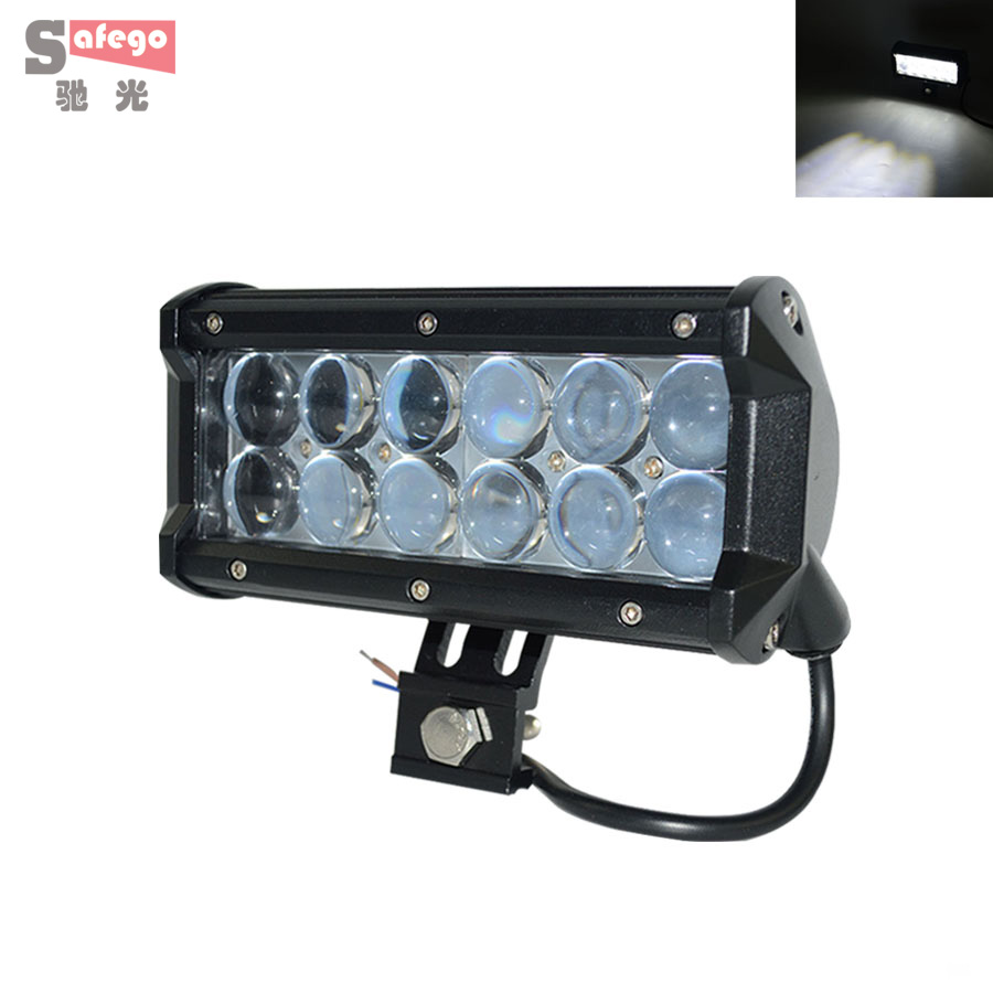 2X 7 36w 12v cree LED driving Light  waterproof  24V LED Light Optical Lens 10 Degree Spot For OFF ROAD Tractor Boat Truck ATV<br><br>Aliexpress