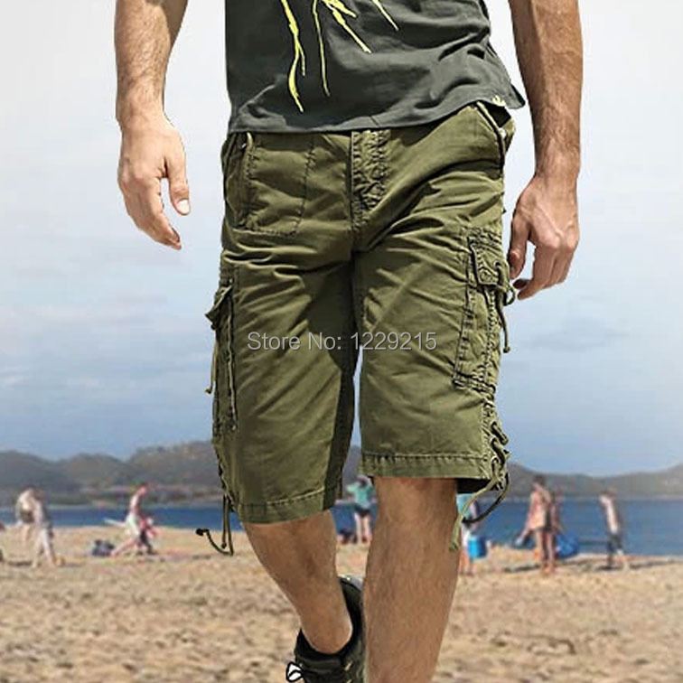 Military style tactical cargo short pants multi-pockets capris beach loose tactical trousers army fashion city hunter free post(China (Mainland))