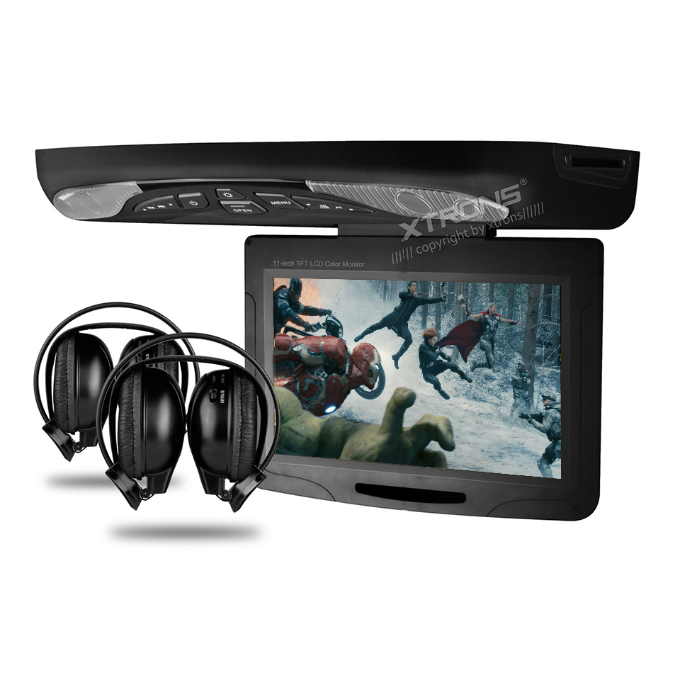 "11.3"" Car Roof Mounted DVD Player Drop Down Monitor With 32 Bits Games Ultra-thin Overhead TFT Screen LED Light Ceiling Car DVD(China (Mainland))"