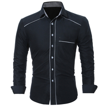 Buy New Fashion Casual Men Shirt Long Sleeve Mandarin Collar Slim Fit Shirt Men Korean Business Mens Shirts Men Clothes M-3XL for $9.57 in AliExpress store