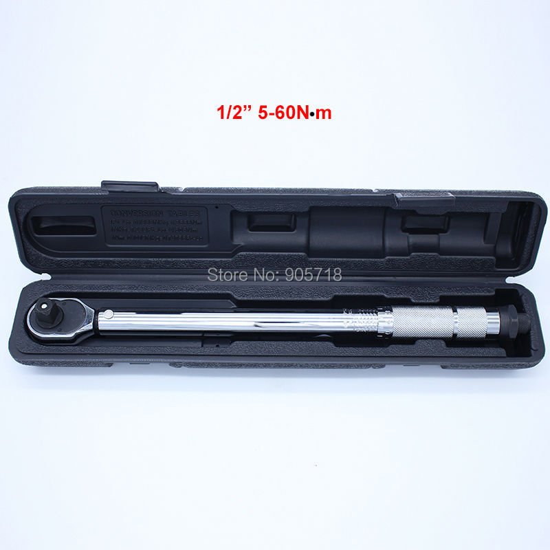 """TAIWAN WERTE 1/2"""" 5-60N Adjustable Torque Wrench Hand Spanner Wrench Tool(China (Mainland))"""