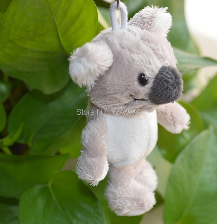 5 Pcs NICI Keychain Koala Pendant Stuffed Plush Keyring, Key holder Doll Gift Free Shipping(China (Mainland))